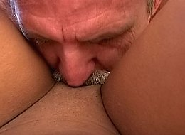 Delicious sweet chick rides passionately giant uncut cock of her guy on the coach into the luscious porn.